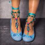 Оригинал              LOSTISY Комфортная богемная вышивка с цветочным принтом на плоских туфлях