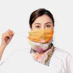 Оригинал              Женские дышащие печатные маски с накладными ушами Шея Защитный солнцезащитный шарф с анти-уф банданой