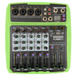 Оригинал              WENYANWEN Mini 4 Channel 16 DSP Эффект USB Задержка и повторные эффекты Консоль аудио микшера с управлением громкостью канала