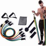 Оригинал              11 шт Фитнес Ленты сопротивления Yoga Натуральный каучук Латекс Ленты для упражнений Pull Band