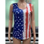 Оригинал              Повседневные майки без рукавов с принтом в виде флага Америки