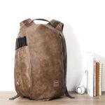 Оригинал              Мужчины Винтаж Порт USB для зарядки из искусственной кожи большой емкости Рюкзак для путешествий Сумка