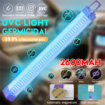 Оригинал              Портативный 2600mAh 5V USB UV Ультрафиолетовый свет Трубка Дезинфекция Портативный UVC Лампа