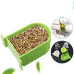 Оригинал              Bird Cage Food Коробка Кормушка для кормушек Полукруглые птицы Домашние аксессуары для зоотоваров