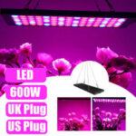 Оригинал              600 Вт LED Grow Light Гидропонное Полный Спектр Крытый Растение Veg Цветочная Панель Лампа AC85-265V
