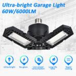 Оригинал              E27 60 Вт 6000LM LED Гаражный светильник Складной потолочный светильник Мастерская деформируемая Лампа AC85-265V