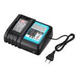 Оригинал              Дисплей 7.2V-18V 3A DC18RC Универсальное зарядное устройство USB Li-Ion Батарея Зарядное устройство для зарядного устройства Makita Power Инструмент