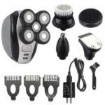 Оригинал              5 в 1 электрическая бритва для мужчин с лысиной Набор 5 головок аккумуляторная Волосы машинки для стрижки Триммер
