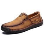 Оригинал              Menico Мужская ручная строчка, нескользящая повседневная обувь на кожаных балетках