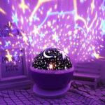 Оригинал              Вращающаяся звезда Единорога Проектор LED Starry Лампа Baby Night Light Подарок детям
