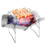 Оригинал              Ультра-легкий из нержавеющей стали складной огнеупор высокой температуры Кемпинг Барбекю Дровяная плита