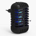 Оригинал              Бытовая 2W Electric Mosquito Killer Лампа 360-400nm UV Свет привлекает летающих насекомых Bugs Мини LED Ночной свет с хранением Коробка для гостиной кухни Ванна