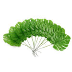 Оригинал              12шт искусственная ветвь пальмового папоротника черепаха Лист Растение дерево листва зеленый Растение декор