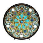 Оригинал              5D Алмаз Живопись Мандала Вышивка Полный Специальной Формы Дрель LED Лампа свет