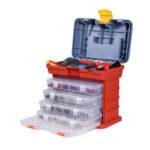 Оригинал              NEWACALOX Портативный Многофункциональный Аппаратное Хранение Коробка с 4-слойными Частями Пластик Коробка На открытом воздухе Для Ремонта Ак
