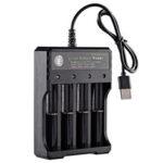 Оригинал              USB 4 слота Rechargable Батарея зарядное устройство для 1-4 3.7 В Li-ion 18650 16650 14650