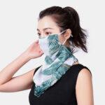 Оригинал              Цветочные дышащие печатные маски Шея Защита солнцезащитный крем