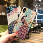 Оригинал              Fashion Chinoiserie Peafowl Шаблон 3D-тиснение ТПУ Защитный Чехол для iPhone X/XS / XR / XS Макс / 6/7/8 / 6S Plus/6 Plus/7 Plus/8 Plus