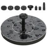 Оригинал              190 л / ч 1,5 Вт Солнечная Плавающая вода Насос Фонтан Birdbath Бассейн Сад + 8 форсунок