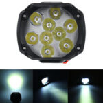 Оригинал              12V10W 1000LM 9 LED Super Bright мотоцикл Фара дальнего света Рабочий свет Противотуманная фара дальнего света Лампа Ночная фара для UTV ATV