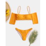 Оригинал              Женский купальник с короткими рукавами и бикини сплошного цвета