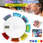 Оригинал              7-сеточный 7-дневный контейнер для медикаментов с Часы напоминаниями