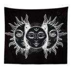 Оригинал              Гобелен Солнца и Луны Пылающее Солнце со Звездным Гобеленом Психоделический Гобелен Черно-Белый Гобелен