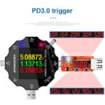 Оригинал              MUSTOOL UD18 USB3.0 / DC / Type-C 18 в 1 USB-тестер Bluetooth APP + PD3.0 Триггер