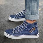 Оригинал              Женские джинсовые удобные повседневные спортивные высокие кеды