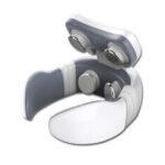 Оригинал              USB 650mAh 4 головки TENS Pulse Шея Массажер для снятия боли в шейке лица Электрический массажер с 5 режимами массажа Встроенные магнитные камни