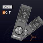 Оригинал              Цифровой мини-дальномер MUSTOOL 40 м Лазер с электронным углом Датчик Переключение блока M / In / Ft USB-зарядка Пифагорейский режим Измерение расст