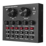 Оригинал              V8 Audio Mixer Звуковая карта USB-гарнитура Микрофон Веб-трансляция Звуковая карта для телефона Ноутбук
