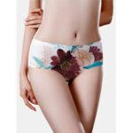 Оригинал              Женские цветочные принты с бесшовной хлопковой подкладкой Soft Трусики с полной талией
