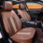 Оригинал              1шт делюкс искусственная кожа авто Авто чехол для сиденья полная передняя подушка универсальный