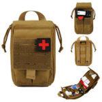 Оригинал              First Aid Сумка Тактическая талия выживания Сумка Регулируемая Водонепроницаемы Аварийная ситуация Сумка