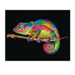 Оригинал              DIY 5D Алмаз Живопись Colorful Хамелеон Art Craft Набор Украшения Стены Ручной Работы Подарки для Детей Для взрослых