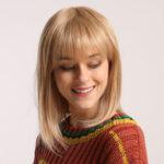 Оригинал              Бобо Косплей Блондинка Парики с челкой Синтетическая женщина Волосы Парики Симпатичная Лолита Косплей Женский Ежедневно Ложь Волосы