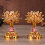 Оригинал              53 Песня Буддизма 7 Изменение Цвета Lotus LED Ночной Свет Музыка Праздник Лампа Украшения