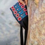 Оригинал              Этническая повязка на голову для женщин с вышивкой Винтаж Кепка с цветочным рисунком в этническом стиле Шапка