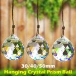 Оригинал              Набор (30/40/50 мм) Люстра Сверкающая Colorful Подвесной хрустальный призматический шар для Кулон