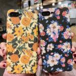 Оригинал              Fashion Flower Шаблон Hard PC Ударопрочный Защитный Чехол для iPhone X/XS / XR / XS Макс / 6 / 6S / 7/8