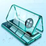 Оригинал              Bakeey для Huawei P30 Pro Чехол 2-в-1 Магнитное адсорбционное закаленное стекло + Объектив Protector Металлическое полное покрытие Protective Чехол
