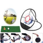 Оригинал              Сетка для игры в гольф, складывающаяся в мини-тренировочную сеть для качелей, качели На открытом воздухе Sport с ковриком для гольфа