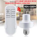 Оригинал              110V / 220V Wireless Дистанционное Управление E27 Лампа Адаптер держателя лампы с функцией таймера