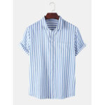 Оригинал              Мужские Striola Практичные карманные дышащие рубашки с коротким рукавом