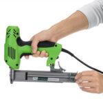 Оригинал              220V Electric Brad Ногти U Тип Скоба двойного назначения Скоба для деревообработки – зеленый