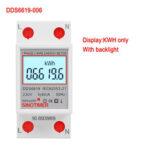 Оригинал              SINOTIMER DDS6619-006 230V Подсветка Дисплей Однофазный рельс Type2P Счетчик электроэнергии