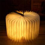 Оригинал              Индуктивный свет книги деревянная страница зерна творческий ночной свет W / USB портативный подарок