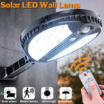 Оригинал              70 LED Дистанционный Солнечная Мощность настенного светильника PIR Motion Датчик На открытом воздухе Солнечная Свет Сад Двор Лампа