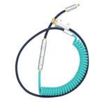 Оригинал              MechZone Type-C Кабель питания Спиральный кабель Зарядное устройство Удлинительный кабель для игр Клавиатура Катушка ручной работы DIY